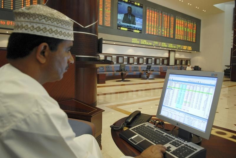 © Reuters.  United Arab Emirates stocks lower at close of trade; DFM General down 0.13%