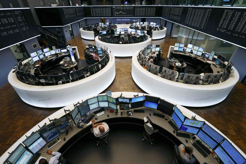 © Reuters. Germany stocks higher at close of trade; DAX up 0.86%