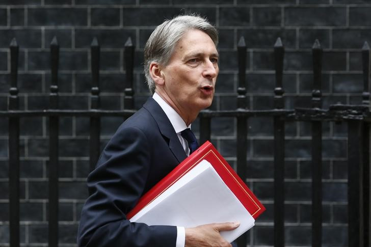 © Reuters. Britain will find ways to stay competitive if no EU deal: Hammond