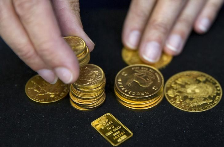 © Reuters.  Gold up in Asia