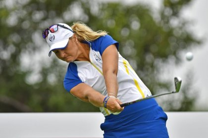 Golf: Underdogs Europe seize early one-point lead in Solheim Cup