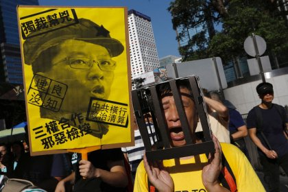 Hong Kong leader says jailed activists are not political prisoners