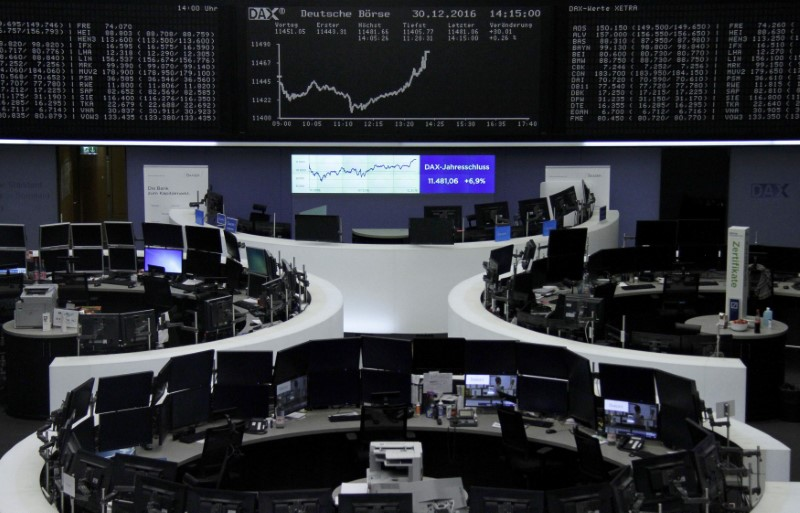 New Year, new high for euro zone stock markets