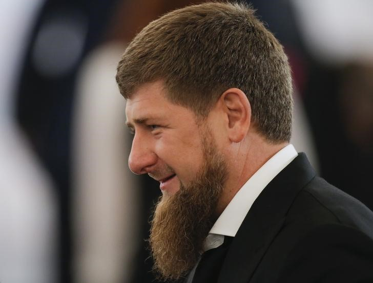 © Reuters. Head of Russia's Chechnya Kadyrov waits before annual state of nation address attended by Russian President Putin at Kremlin in Moscow