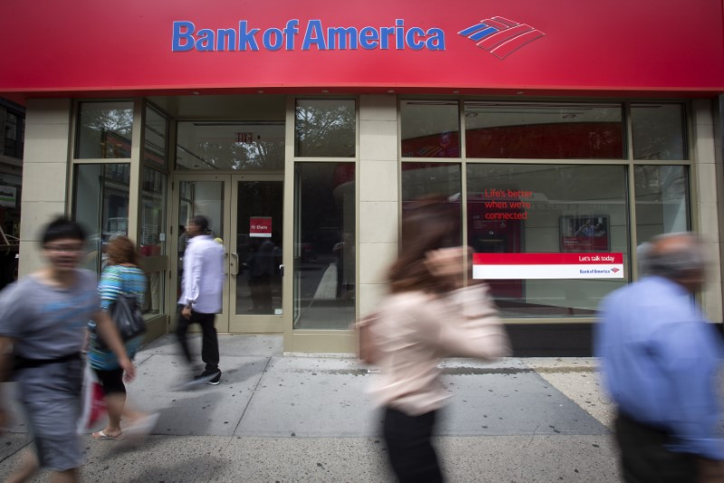 © Reuters. A Bank Of America sign is pictured in the Manhattan borough of New York
